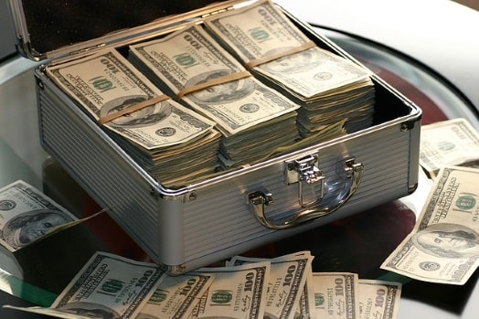 A box of cash from selling a house